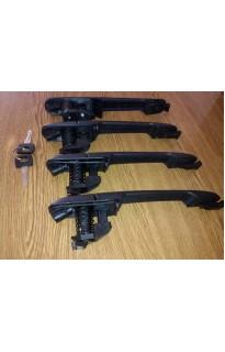 Комплект дверных ручек с сердцевинами и ключами Mercedes Vito 638 /Sprinter /VW LT