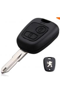 Заготовка ключа с брелком Peugeot 106 / 206 / 306 - 2 кнопки
