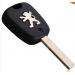 Заготовка ключа с брелком без канавки PEUGEOT 307 / 107 / 207 / 407 - 2 кнопки